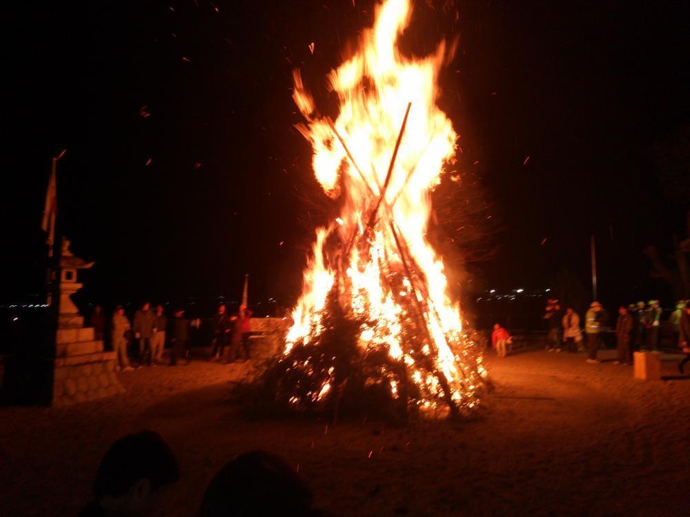 2016 山の講 火入れ