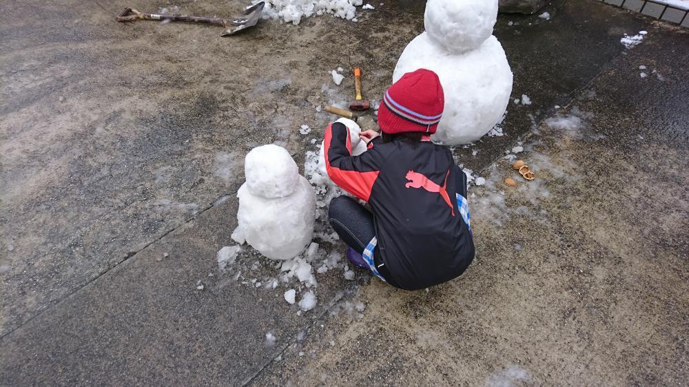 2017/1/16 雪だるま 作製