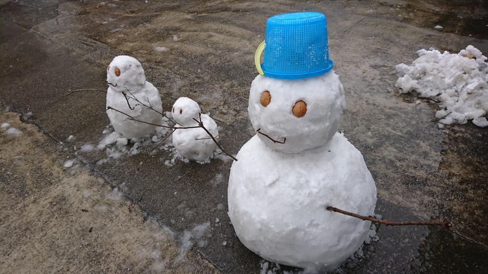 2017/1/16 雪だるまの親子 完成
