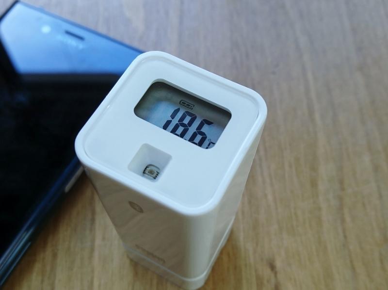 豊田市都築建設にて温湿度計 携帯リンク温度表示