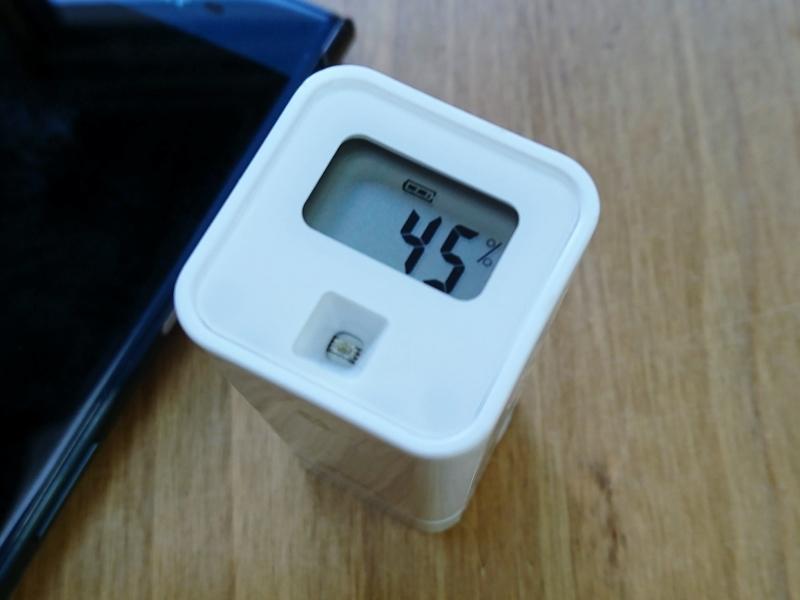 豊田市都築建設にて温湿度計 携帯リンク 湿度表示