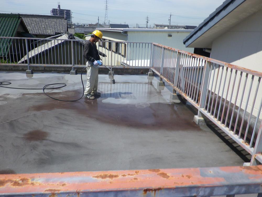 公民館 防水改修 洗浄