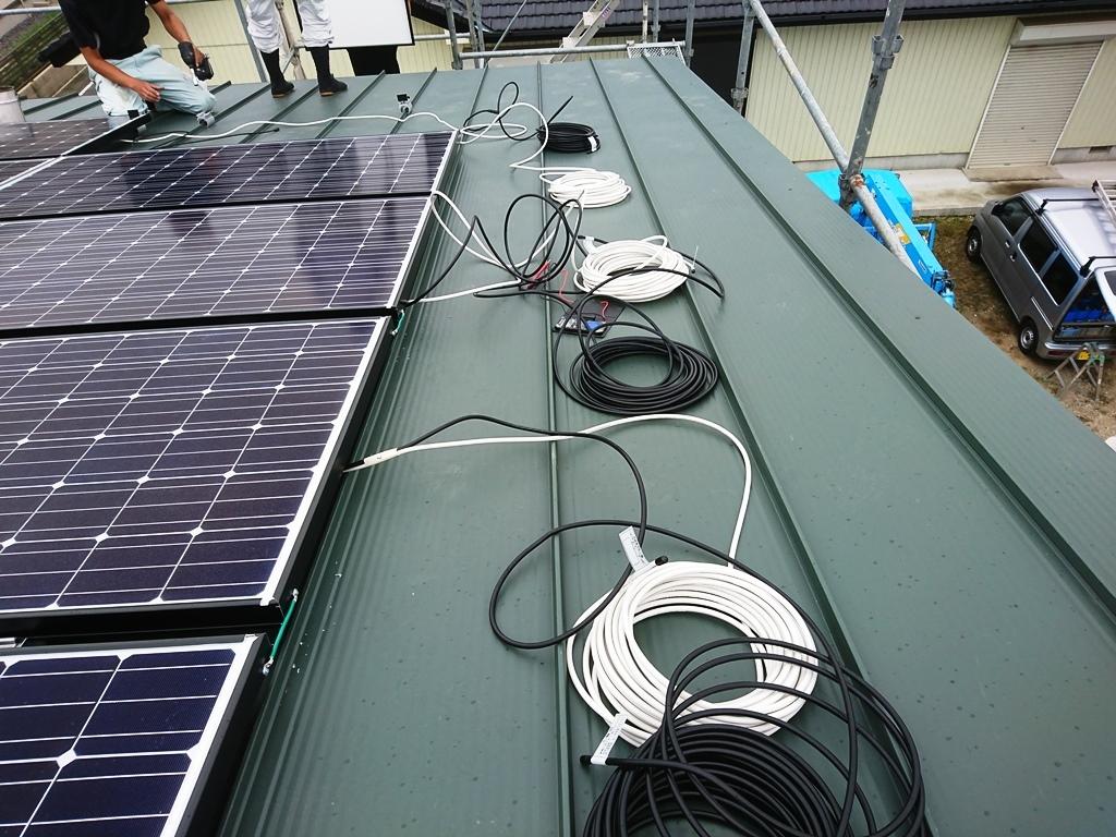 M様 太陽光設置 配線