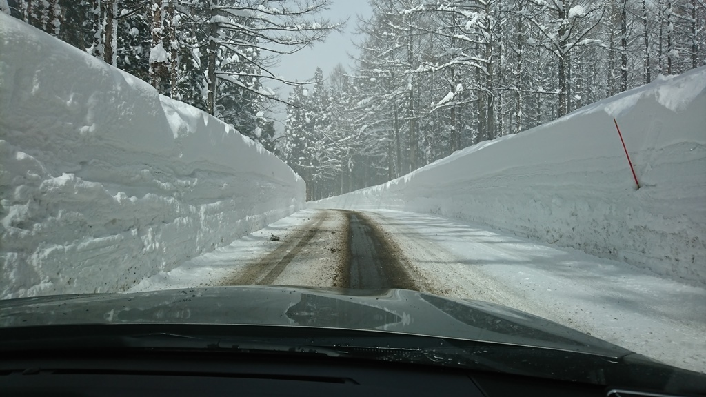小谷村は雪景色