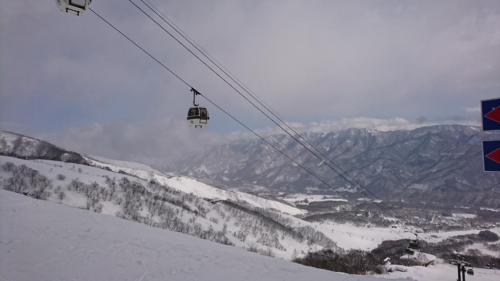 栂池高原スキー場 中腹 2017.2.13