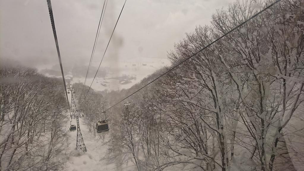 栂池高原スキー場 ゴンドラ 2017.2.13