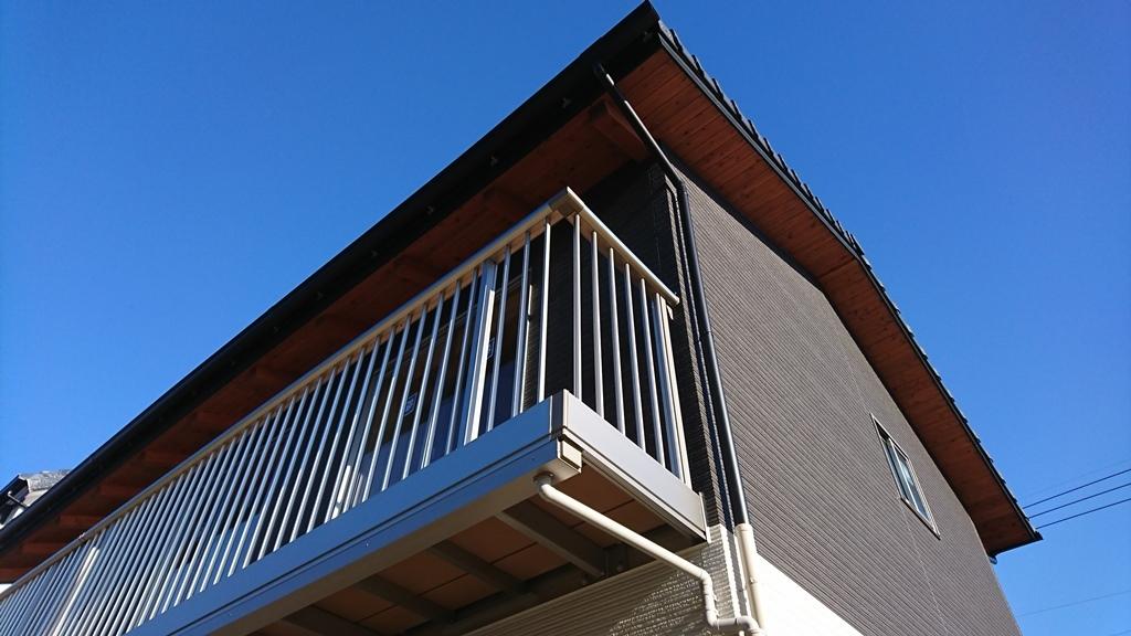 豊田市の工務店㈱都築建設の雨楽な家K様ベランダ