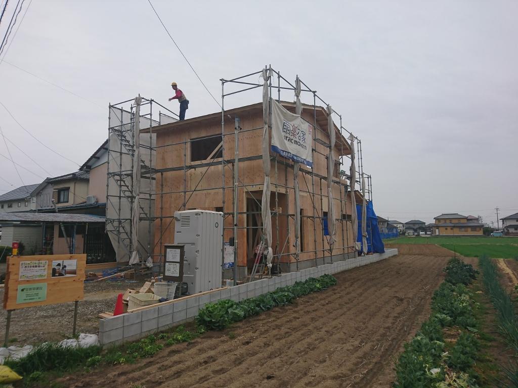 豊田市都築建設の豊田市上郷町木造新築住宅の上棟 棟上げ 完了