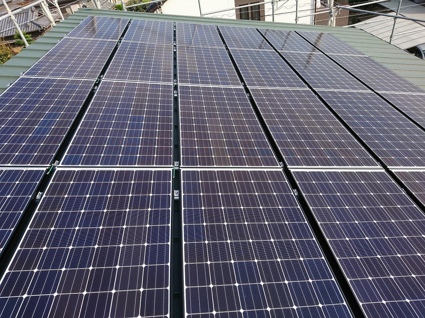 豊田市の太陽光発電パネルを乗せた住宅