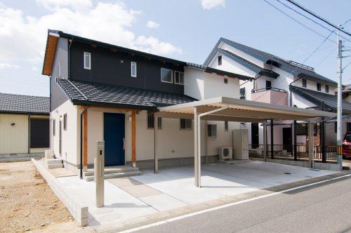 豊田市都築建設の建てた豊田市桝塚西町の新築一戸建て住宅の外観 猫と暮らす家