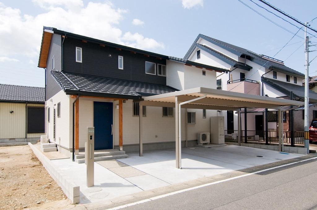 豊田市都築建設の建てた豊田市桝塚西町の新築一戸建て住宅の外観