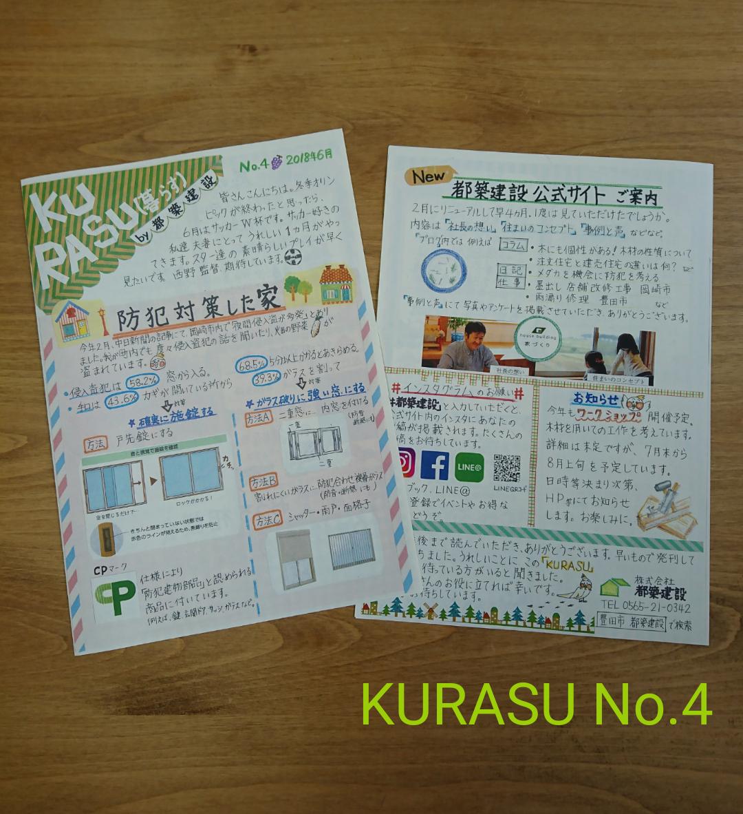 豊田市都築建設の情報誌KURASUNo.4