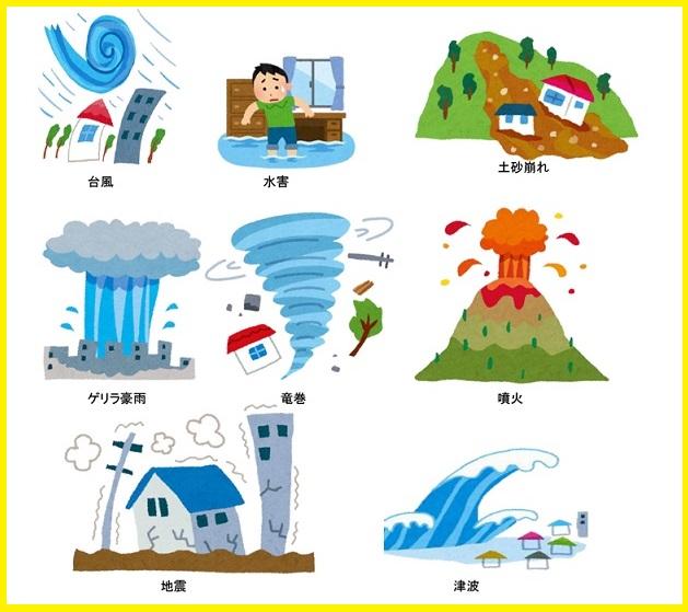 自然災害の絵