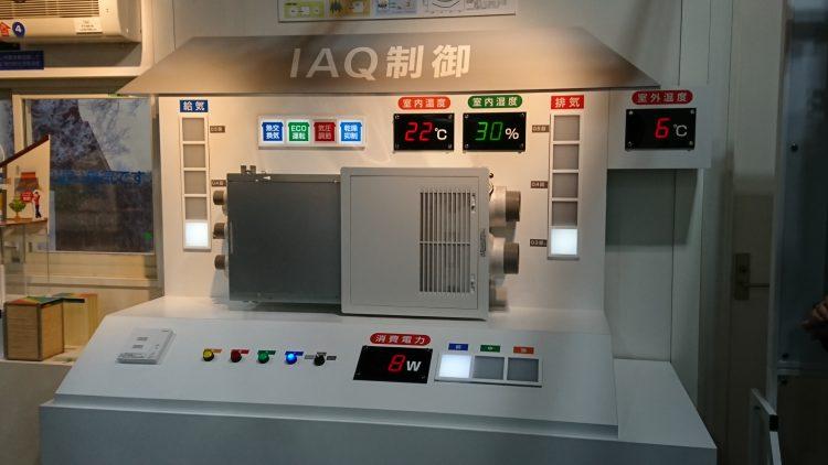 パナソニックの熱交換システムのIAQ制御説明