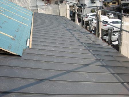 豊田市木の家工務店都築建設の岡崎市店舗イノベーション屋根工事