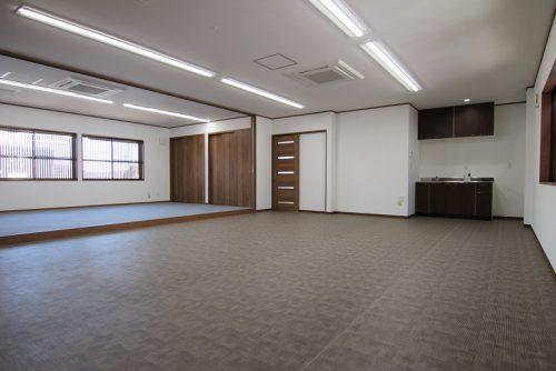 岡崎市事務所リノベージョン工事の2階大空間