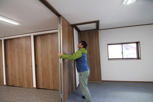 岡崎市事務所リノベージョン工事の2階間仕切り建具