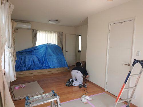 豊田市木の家工務店都築建設の間仕切り収納工事着前