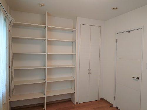 豊田市木の家工務店都築建設の間仕切り工事完成1