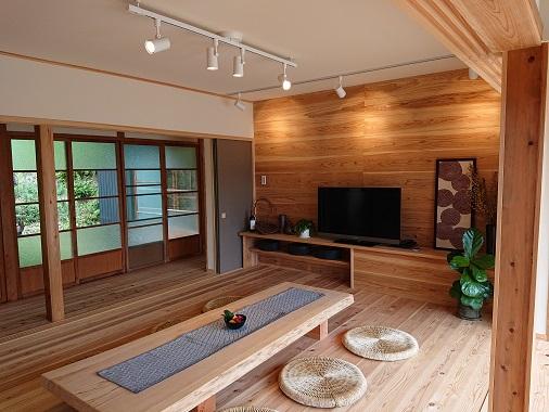 豊田市松平にある平屋をリノベーションしたリノベうらく