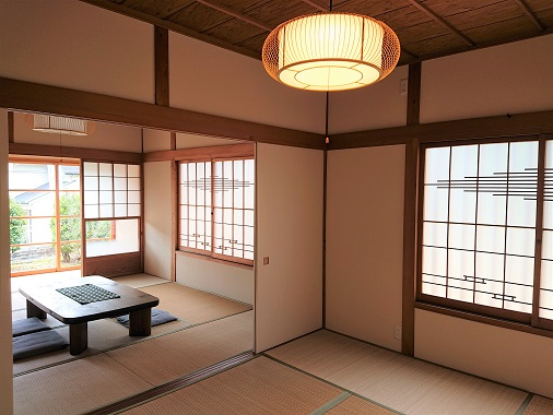 豊田市松平にあるリノベうらくの和室
