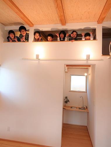 豊田市松平地区にある雨楽な家爽の寝室ロフト