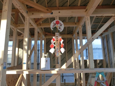 豊田市木の家工務店都築建設の新築住宅上棟式