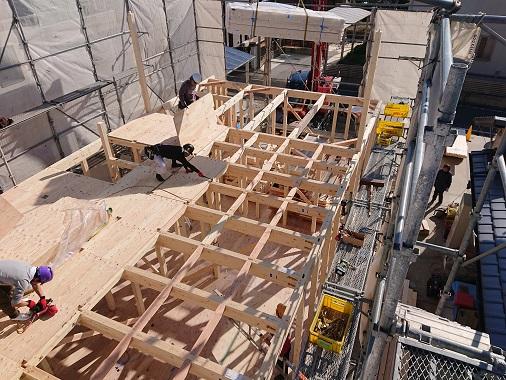 豊田市木の家工務店都築建設の建て方