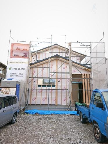 豊田市の木の家工務店都築建設の注文住宅進捗