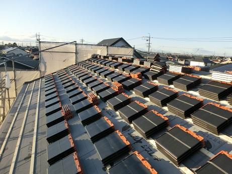 豊田市の注文住宅屋根工事
