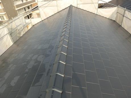 豊田市の注文住宅屋根工事完成