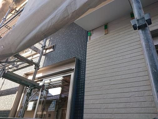 豊田市の工務店都築建設の注文住宅 外壁工事