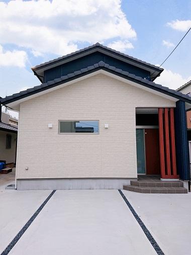 豊田市の木の家工務店都築建設の施工例注文住宅外観正面