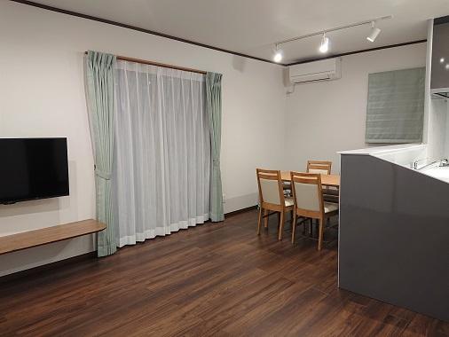 豊田市の木の家工務店都築建設の施工例キッチン・ダイニング・リビング