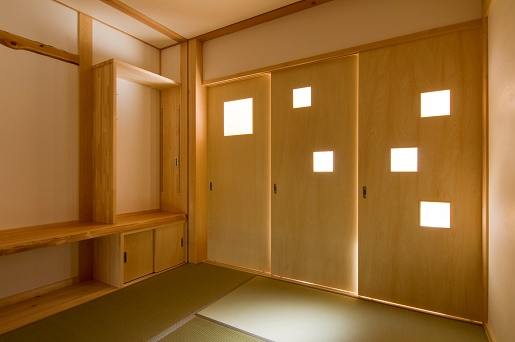 豊田市の木の家工務店都築建設の施工例和室木建具造作