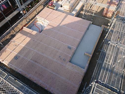 豊田市の木の家工務店都築建設の建前準備