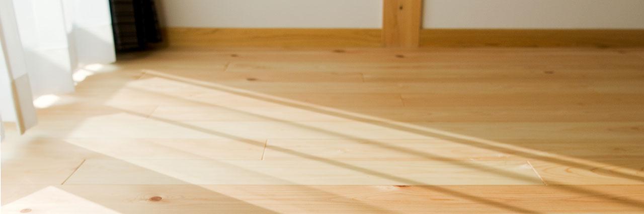 豊田市の木の家の床