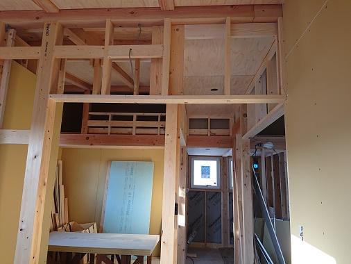 豊田市の木の家工務店都築建設の建築現場