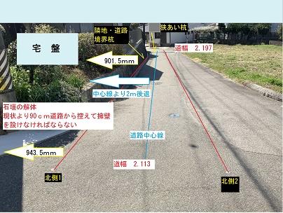 豊田市木の家工務店都築建設の現況調査 道路