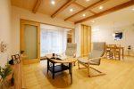 木の家工務店都築建設の注文住宅玄関土間・リビングダイニング