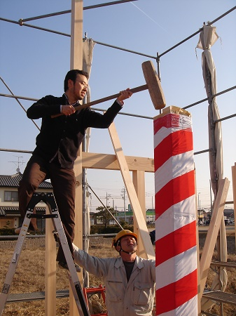 豊田市木の家工務店都築建設の上棟