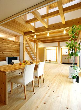 木と漆喰の家 雨楽な家北名古屋モデルハウス