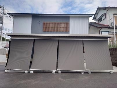 豊田市都築建設のカーポート、サンシェード工事2