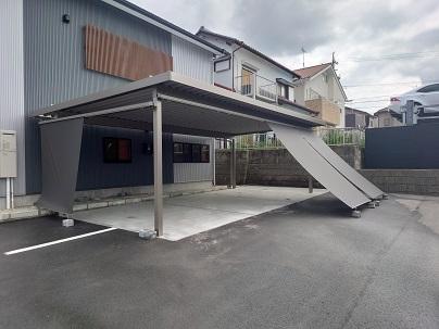 豊田市都築建設のカーポート、サンシェード工事