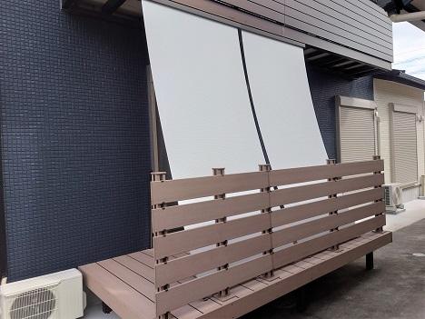 豊田市の工務店 ウッドデッキとサンシェード